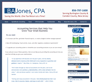 BA Jones CPA, Accounting Websit