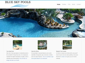 Blue Sky Pools, Inc. by Accelerator Websites