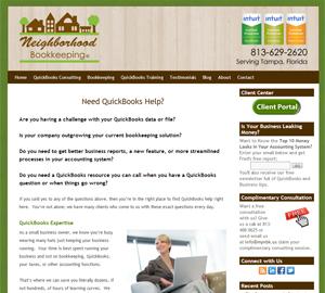 Neighborhood Bookkeeping, LLC by Accelerator Websites
