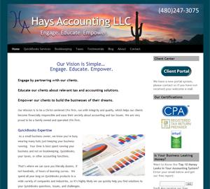 Hays Accounting LLC, Accounting Website