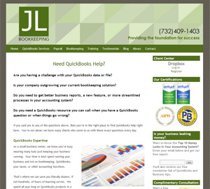 JL Bookkeeping LLC, Accounting Website