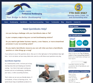JOHNS CREEK Professional Bookkeeping, Accounting Website