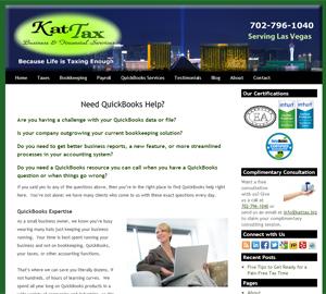 KatTax, Business & Financial Services LLC, Accounting Website