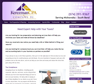 Kerezman CPA & Company, P.C., Accounting Website by Accelerator Websites