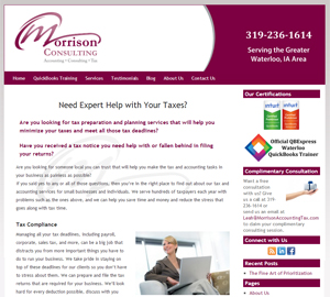 Morrison Consulting LLC, Accounting Website