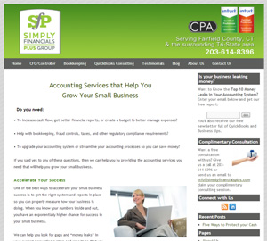 SIMPLY Financials PLUS, Accounting Website