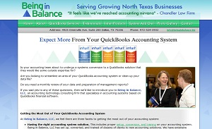 Being in Balance, Accounting Website