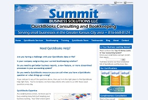 Summit Business Solutions,  Accounting Website