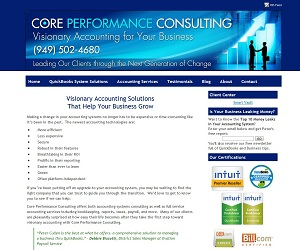Core Performance Consulting, Accounting Website