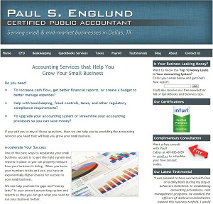 Paul Englund, CPA, Accounting Website