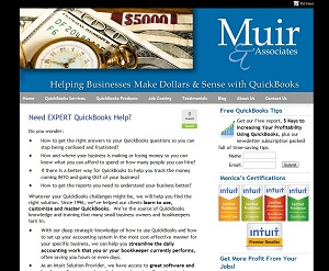 Muir & Associates, Accounting Website
