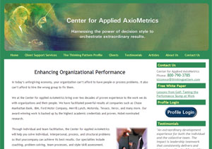 Center for Applied AxioMetrics by Accelerator Websites