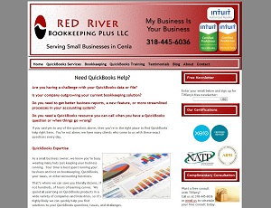 Red River Bookkeeping Plus, Accounting Website