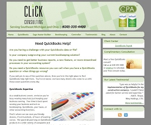 Click Consulting, Accounting Website
