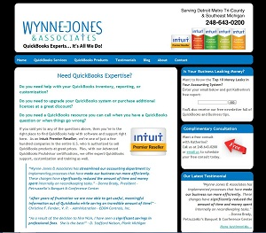 Wynne-Jones & Associates, LLC, Accounting Website