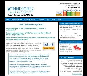 Wynne-Jones & Associates, LLC, Accounting Website