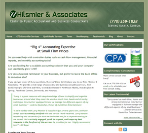 Hilsmier & Associates, Accounting Website