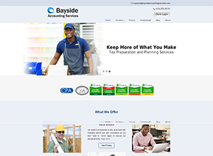Bayside Accounting Services Website Screenshot