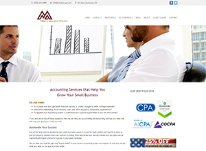 Miller & Associates CPAs LLC Website Screenshot