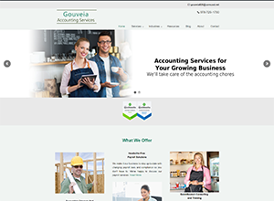 Gouveia Accounting Services Website Screenshot