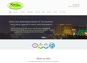 KatTax, Business & Financial Services LLC, Accounting Website