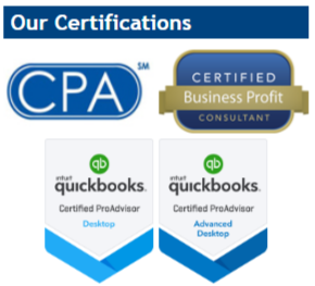 Accounting Certifications on website