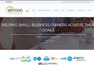 Beyond Financials Consulting, Accounting Website