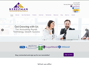 Kerezman Tax & Accounting Solutions LLC by Accelerator Websites
