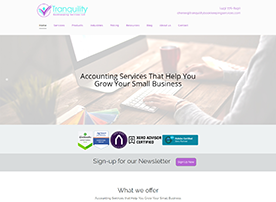 Tranquility Bookkeeping Services by Accelerator Websites