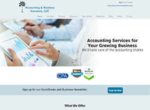 Accounting & Business Solutions, LLC, Accounting Website