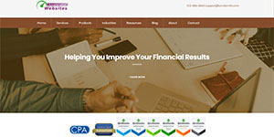 Screenshot of CPA Firm website templates Well-rounded theme