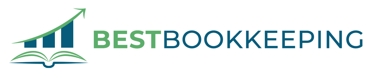 Open book and chart Bookkeeping Logo Sample