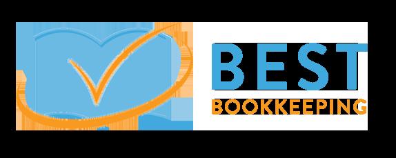 Blue Book with orange checkmark Best Bookkeeping Logo Sample