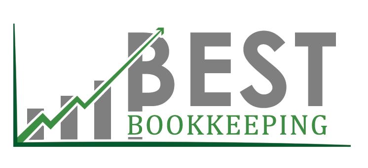 Gray upward bar graph Best Bookkeeping Logo Sample