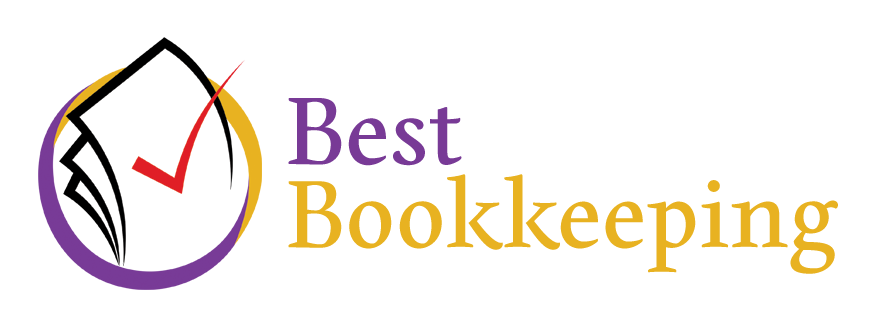 Documents and checkmark Bookkeeping Logo Sample