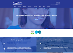 Accounting Creations LLC website by Accelerator Websites
