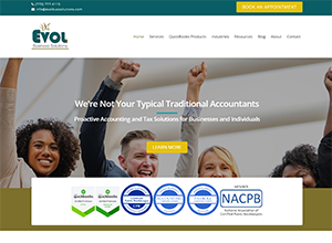 EVOL Business Solutions LLC website by Accelerator Websites