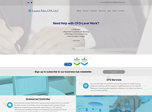 Laureen Falco, CPA, LLC website by Accelerator Websites