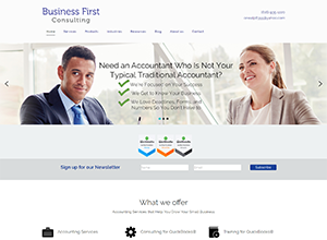 Business First Consulting Website Screenshot
