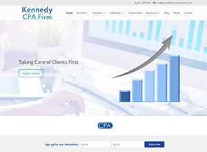 Kennedy CPA Firm website by Accelerator Websites