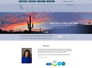 Hays Accounting LLC, Accounting Website