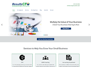 Results CFO Website Screenshot
