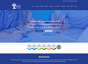 Clear Accounting Solutions Website Screenshot