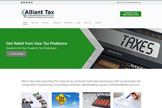 Alliant Tax & Bookkeeping Services Website Screenshot