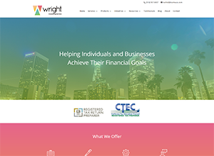 Wright Accounting Services Website Screenshot