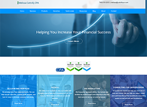 Melissa Cottrill, CPA Website Screenshot