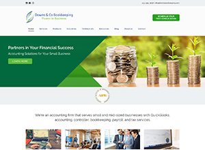 Downs and Co Bookkeeping by Accelerator Websites