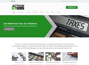 Action Tax Relief Website Screenshot