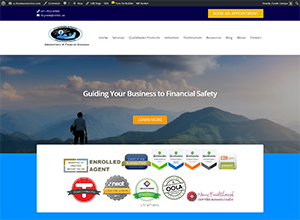 A-Z Business Services, Accounting Website