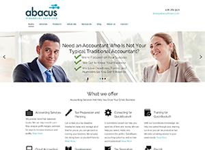 Abacus Financial Inc. Website Screenshot